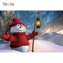Yeele Christmas Photocall Winter Mount Snowman Pine Photography Backdrops Personalized Photographic Backgrounds For Photo Studio