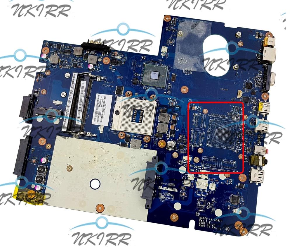 NAYF0 LA-5881P MBWHH02001 MB.WHH02.001 S989 материнская плата для шлюза NV79 NV7915U LJ75 LJ77