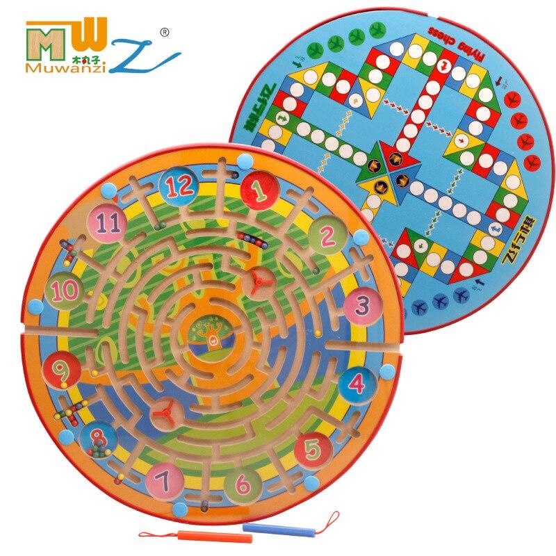 Enfants jouet en bois enfants Puzzle jeu jouet magnétique labyrinthe enfants éducation en bois Puzzle intellectuel jouet Puzzle conseil M121