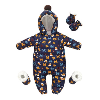 2020 Winter Baby Snowsuit Boys Girls Snow Wear Clothes Infant Snow Wear Jumpsuit Fleece Liner Baby Duck Down Coat Newborn Outfit iyeal newborn baby snowsuit children infant winter coat warm liner hooded zipper jumpsuit boys girls duck down outwear overalls