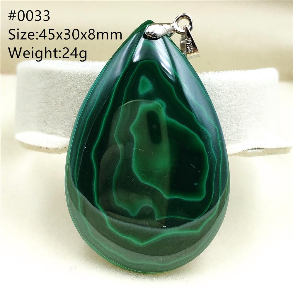 Véritable naturel vert Malachite Chrysocolla pendentif pour femmes hommes pierre gemme cristal guérison pierre collier pendentif bijoux AAAAA