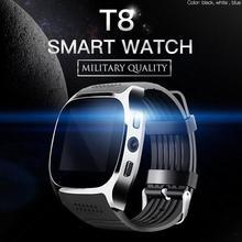 T8 Bluetooth inteligentny zegarek z kamerą Facebook Whatsapp obsługa karty SIM TF połączenie sportowe Smartwatch dla telefonu z systemem Android IOS Samsung