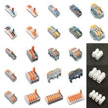 Разъем для провода PCT-212 PCT-213 PCT-215 компактный проводки, проводниковый блок 0,08-2.5mm2 PCT-222 218 SPL-2 3