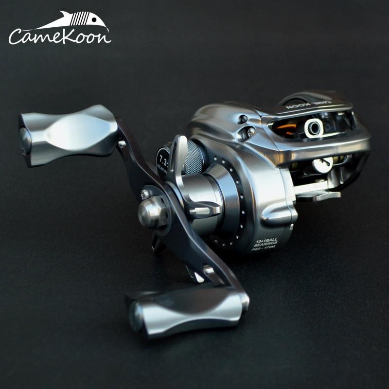 CAMEKOON Full Matel Baitcasting Fishing Reel 10+1 Ball Bearings 7.3:1 Gear Ratio Ultra Smooth Casting Reel Fishing Coil Fishing Reels     - title=