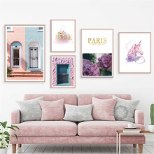 Nordic Style Room Window Flower Animal Unicorn Decorative Painting Poster Wall Art Canvas Prints Pictures For Living