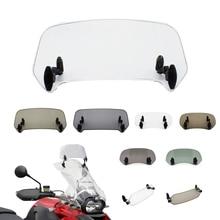 Universal Motorcycle Windshield Extension Adjustable Spoiler Clamp-On Windscreen Deflector For BMW KAWASAKI YAMAHA HONDA SUZUKI