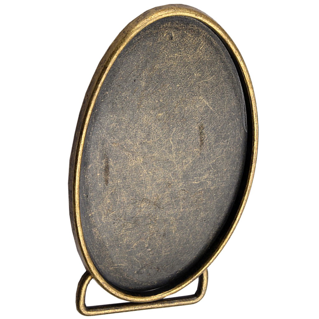 Mens Western Cowboy Belt Buckle Alloy Oval Belt Buckle Replacement Bronze