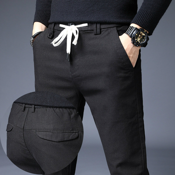 2020 New Men Straight Casual Pants Fashion Trousers Drawstring Breathable Sweatpants for Male Black Work Pants Slim Skinny Pants