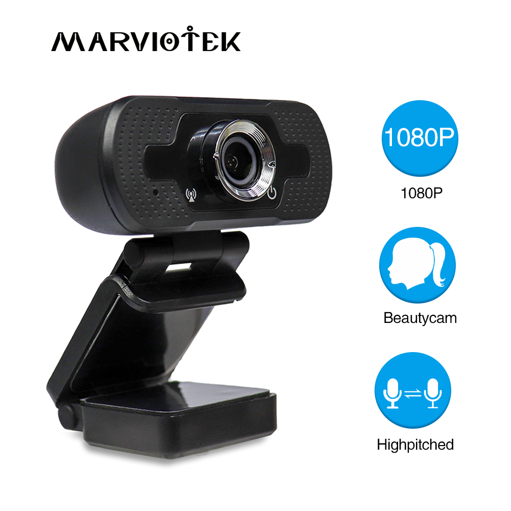 Digital Video Webcam HD Built-in Mics Smart 1080P Web Camera USB Pro Stream Camera HD for Desktop Laptop PC For OS Windows10/8(China)
