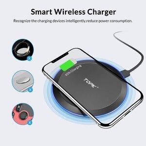 Image 4 - Chargeur sans fil TOPK pour iPhone Xs Max X 8 Plus 10W chargeur rapide pour Samsung Note 9 Note 8 S10 Plus