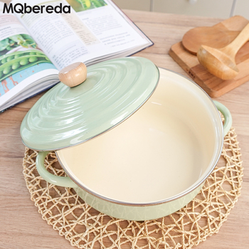 Special Offer Porcelain Enamel Large Hot Pot 3.5L Dual-sided Pot Japanese Style Thick Pot 26cm Electromagnetic Furnace Fuel Gas