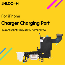 1pcs New Charger Charging Port USB Dock Connector replacement For iPhone 5 5C 5S 6 6S 7 8 Plus X Headphone Audio Jack Flex Cable new iphone case for iphone 11 for iphone11 pro max 5 8 inches 6 1 inches 6 8 inches 6 6s 7 8 plus ix xr max x fashion back cover