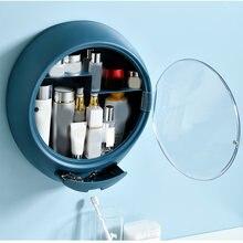 Домашний настенный органайзер для макияжа Круглый Водонепроницаемый