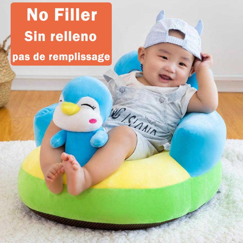 תינוק מושבי ספה תמיכה כיסוי תינוקות למידה לשבת קטיפה כיסא האכלת מושב עור עבור פעוט קן פאף Dropshipping לא מילוי