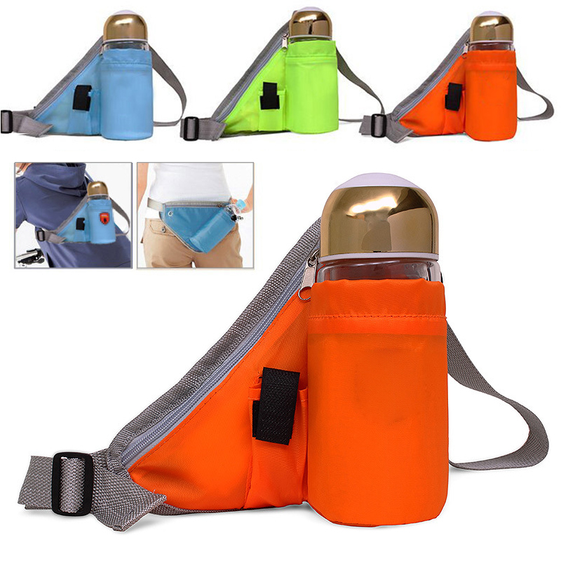 Lightweight Waterproof adjustable <font><b>Belt</b></font> increase the <font><b>water</b></font> <font><b>bottle</b></font> bag pockets suitable for running cycling hiking image