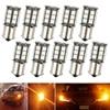 10 Pcs 1156 BA15S 5050 27SMD LED Daytime Running Light For Car Auto Reverse Bulb Brake Fog Parking Tail Cabin Lamp 12V Yellow