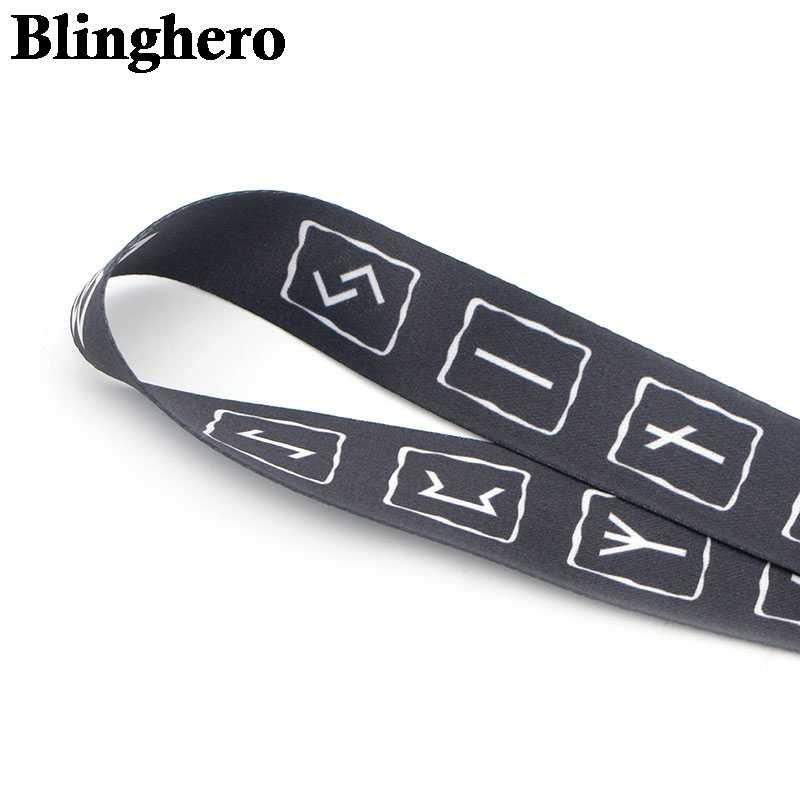 CA001 Viking Rune Nnecklace smycz odznaka ID smycze/smycz na telefon komórkowy/smycz do kluczy akcesoria z paskami na szyję