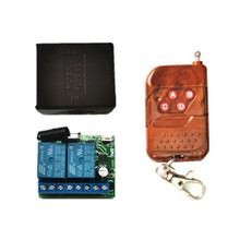 цена на 433MHz Universal Wireless Remote Control Switch DC 12V 2CH Relay Receiver Module + RF Transmitter 433 MHz1527 Learning Remote Co
