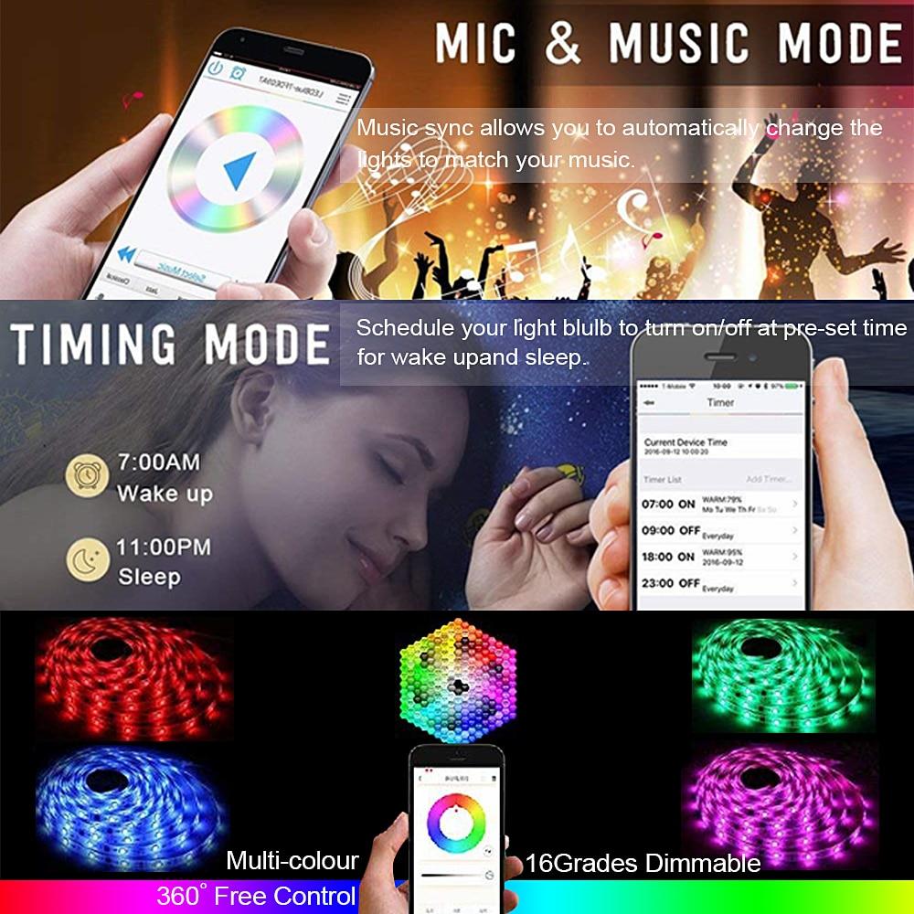 H7bc6728fe0664655b5857a155f12ad68F RGB Tape Bluetooth USB LED Strip TV Background Flexible Neon Ribbon tira Lamp 5V 0.5M SMD 5050 RF Controller LED RGB Strip Light