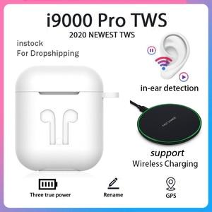Original i9000 Pro TWS 1:1 In ear Blutooth Earphone Mini Wireless Sport Headset Headphone Stereo Earbuds Elari Aire 2 PK i900000(China)