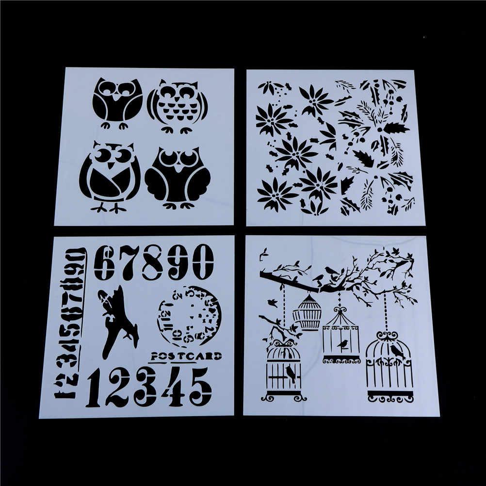 Novo diy artesanato camadas gaiola árvore brids estênceis para pintura de parede scrapbooking álbum decorativo cartões papel