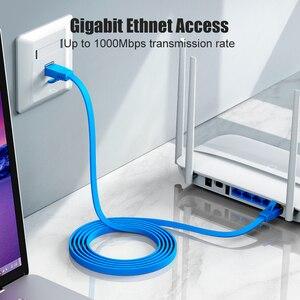 Image 4 - SAMZHE CAT6 שטוח Ethernet כבל RJ45 Lan כבל רשת Ethernet תיקון כבל למחשב נתב נייד