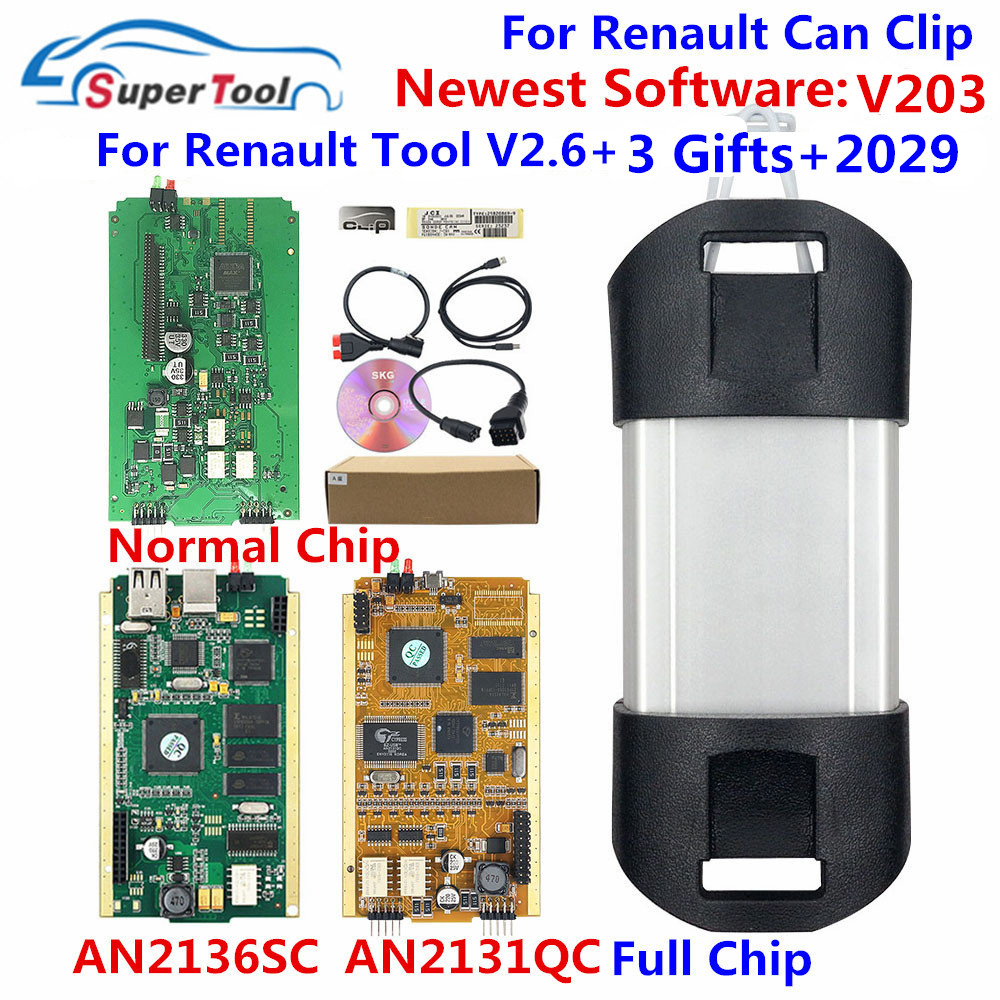 Can Clip V203 диагностический интерфейс для renault Can Clip 202 Золотая печатная плата V178 с реле NEC AN2131QC AN2135SC полный чип + Reprog V191