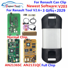 Can Clip V203 interfaccia diagnostica per renault Can Clip 202 Gold PCB V178 con relè NEC AN2131QC AN2135SC Full Chip Reprog V191