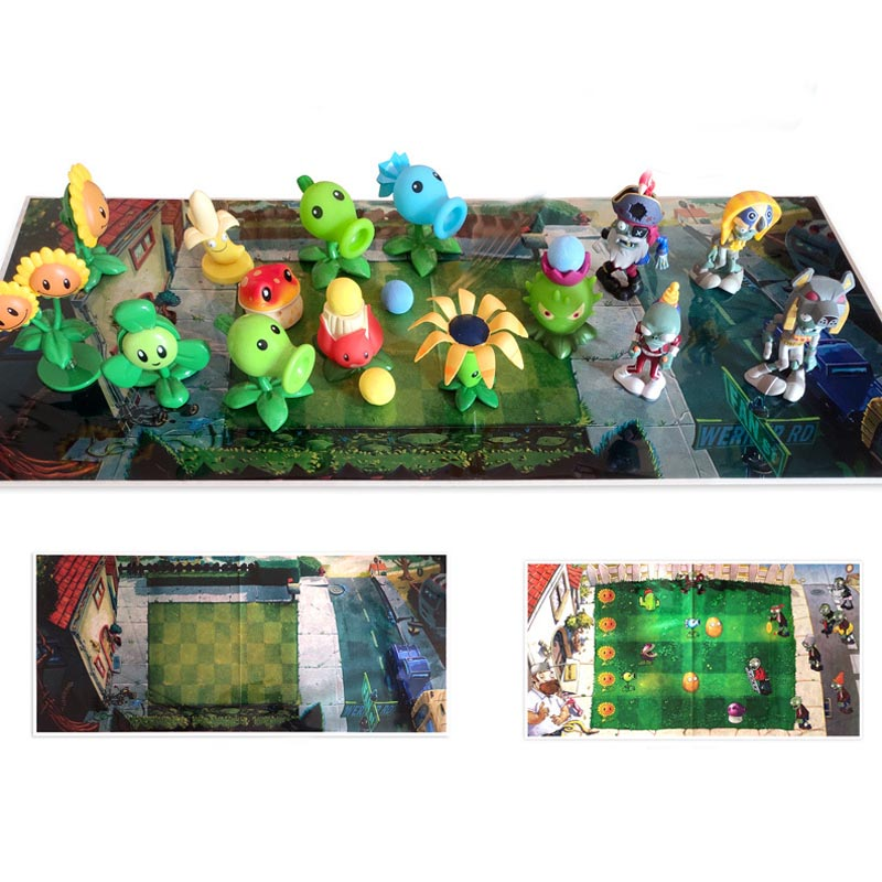 2020 New Plants Vs Zombies Game Plan Map Waterproof Film Plastic Mat Color Printed Decorative Operational Layout Stance Kid Toy image