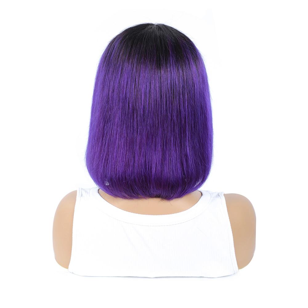 ombre para mulheres peruca completa com bang