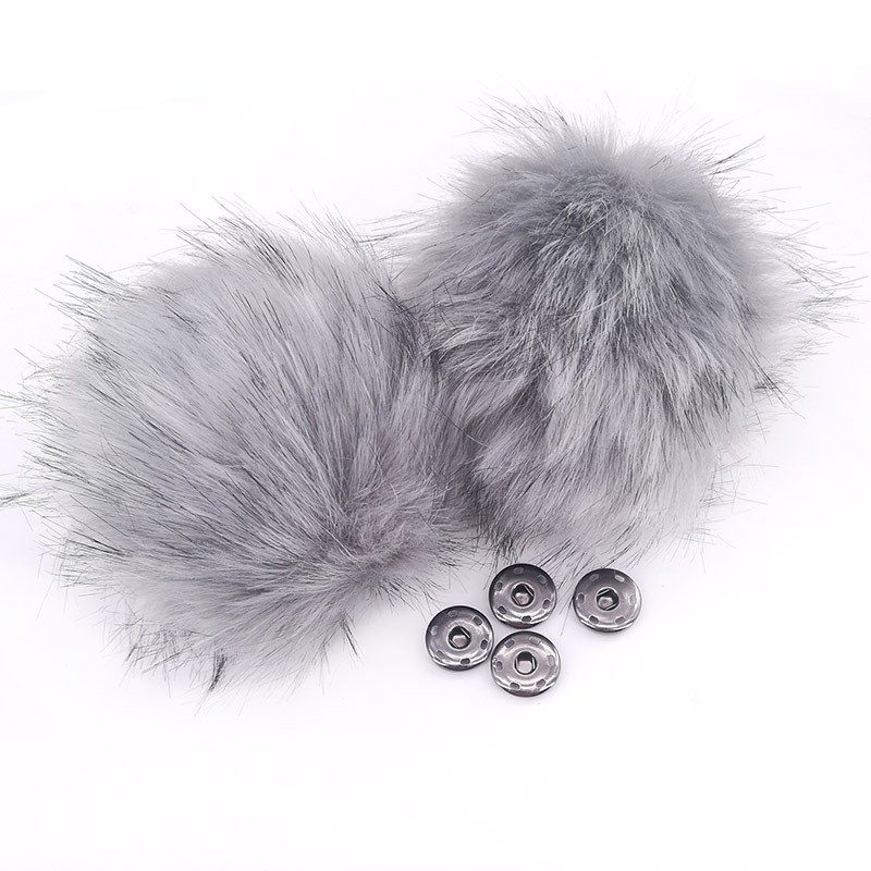 Big Faux Fur Pom Pom For Woman Hats Fur Ball For Girls Baby Hats Beanies Hat Accessories