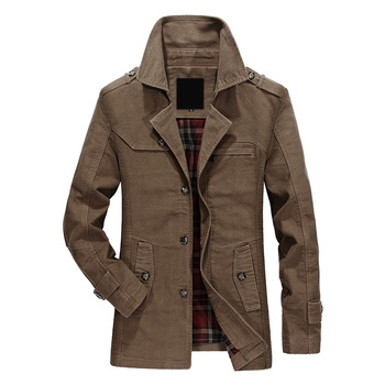 Mens Jackets Men's Spring Autumn Fashion Cotton Blazers Jackets Men Causal Suit Trench Jacket Windbreaker Outerwear Male Clothes whs 2018 new men thin cotton jacket autumn outdoor windproof warm coat spring male mens camping clothes hiking jackets hot
