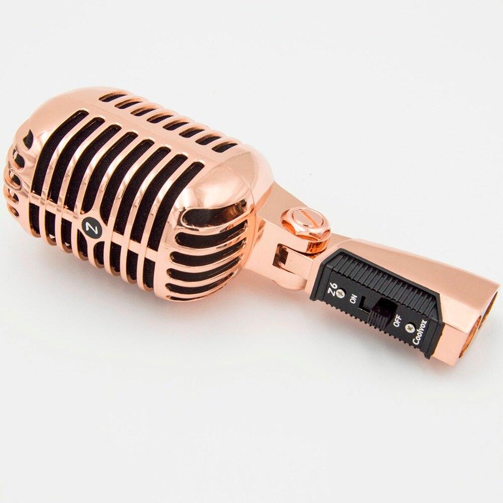 Professionnel filaire Vintage classique Microphone bonne qualité dynamique mobile bobine Mike de luxe en métal Vocal vieux Style Ktv micro Z6 mike - 5