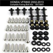 Для Honda VFR800 VFR 800 2002-2013 полный обтекатель болтов комплект обтекателей зажимы скорость Nus винты мотоцикл нержавеющая сталь