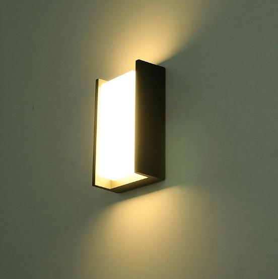 Креативный дверной светильник для балкона, водонепроницаемый настенный светильник, светодиодный внутренний двор, китайский современный минималистский дом, наружная настенная наружная лампа