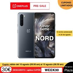 Предварительная продажа глобальная версия OnePlus Nord 5G Смартфон Snapdragon 76 5G 8 Гб 128 ГБ 6,44 ''90 Гц AMOLED экран 48MP Quad задние камеры 30W
