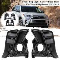 1 Set 4Pcs Auto Nebel Licht Vorne Abdeckung Trim Decoraion Grill Für Toyota Highlander 2017 2018 2019 Fahren Lampe seite Zubehör-in Lampenhauben aus Kraftfahrzeuge und Motorräder bei