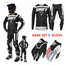 Hot 2019 Adult for Shift GEAR SET Motocross Suit Dirt Bike MX Jersey and Pant Motorcycle Gear Set with Gift Gloves