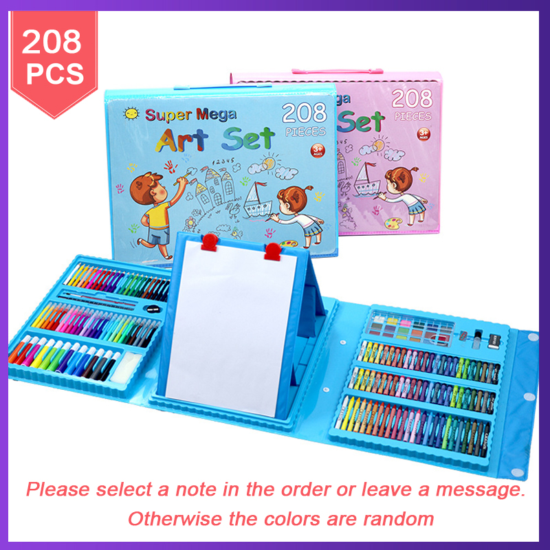 288 шт детский художественный Набор для рисования, детский подарок, акварельный рисунок, художественный маркер, кисть, набор ручек для детей, повседневная развлекательная игрушка, подарок - Цвет: 208 pcs set