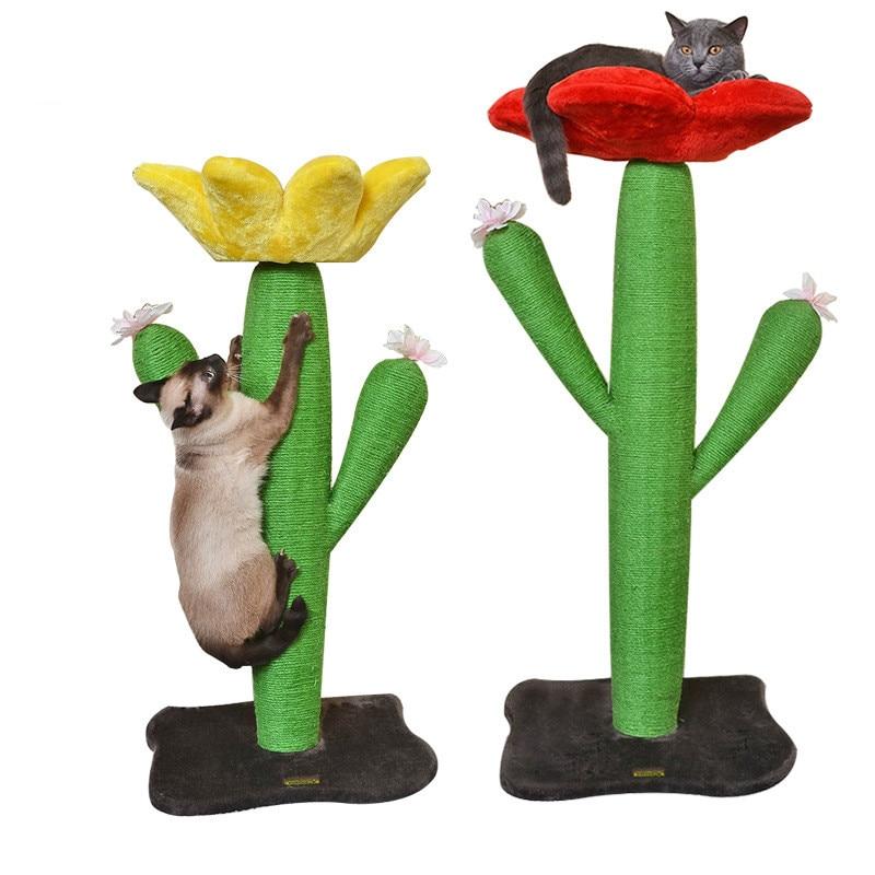Sisal Cactus Cat Climbing Frame Cat Scratch Board Cat Jumping Platform Pet Scratching Post Pet Products For Cats Tree Climbing