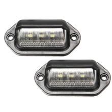 2PCS IP65 Waterproof License Plate Light Bulb 6LED 12-24V For Car Boat Truck Trailer Step Pedal Lamp