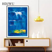Modern Simple Blue Art Home Wall Painting Picture Abstract Printing Poster for Living Room  DJ636
