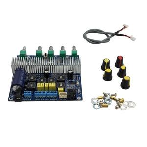 Image 5 - Lusya Bluetooth 5.0 TPA3116D2 Subwoofer Amplifier Board 2.1 Channel High Power 2*50W+100W Amplificador audio DC12V 24V D3 001