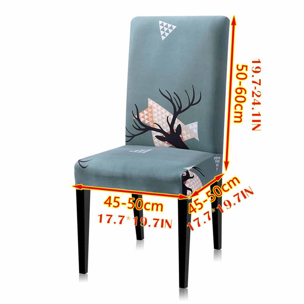 Стул с обивкой Чехлы для стулья для столовой рождественские стулья крышка спандекс банкет современный стул протектор BE47302