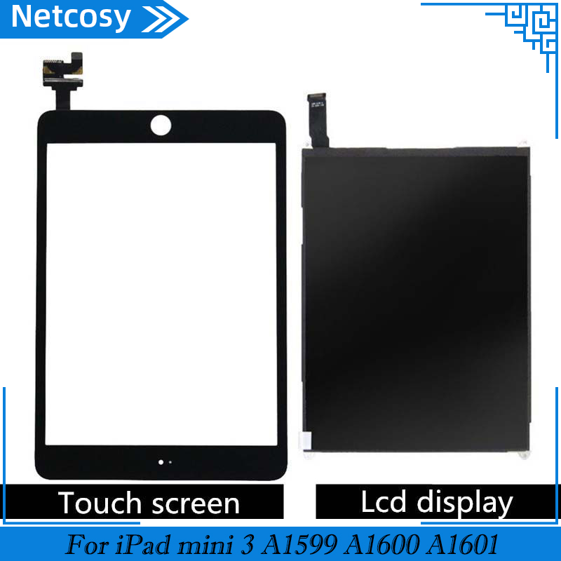 For IPad Mini 3 A1599 A1600 A1601 Touch Screen Digitizer Panel & LCD Display Screen Repair Parts For IPad Mini 3 With IC