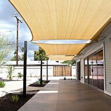 4x6 м 98% УФ защитная крышка водонепроницаемый солнцезащитный навес УФ Блок Прямоугольник песок солнцезащитный навес для наружного Патио сада
