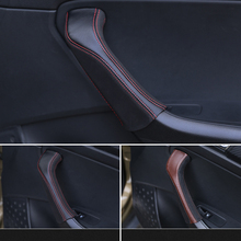 Lsrtw2017 Cow Leather Car Inner Door Handle Cover for Skoda Kodiaq Gt Interior Mouldings Accessories