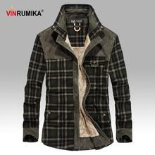 2020 Mens Winter Warm Thick Fleece Casual Brand Good Quality 100% Cotton Plaid Shirt Man Thicken Army Grid Long Sleeve Shirts