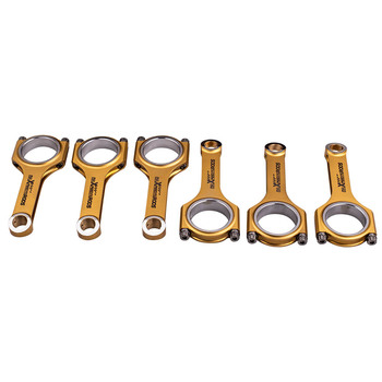 6x Racing Titanizing Connecting Rods 153mm for Audi VW 3.0T Porsche Cayenne For Audi B7 A4 B8 A4 Q7 C6 A6 D3 A8