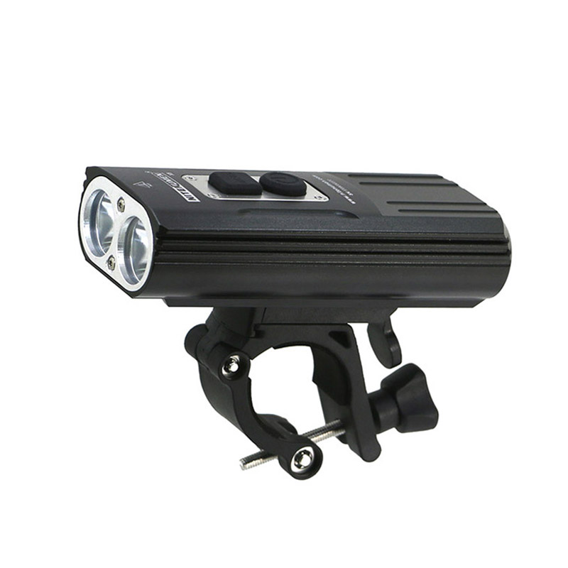 USB Bicycle Light LED 18650 Bike Lamp 1800Lm 2x XM-L2 Lights Front BicycleLight Flashlights Lamp Built-in Battery